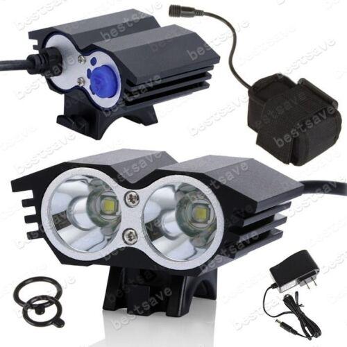 4x18650+CH T6 B0600 Upgrade 2x Bulb XML U2 LED Bike Bicycle HeadLamp Head Light