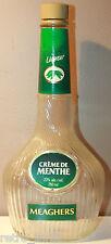 Meaghers Creme De Menthe Liqueur Empty Bottle 750 ml Liquor