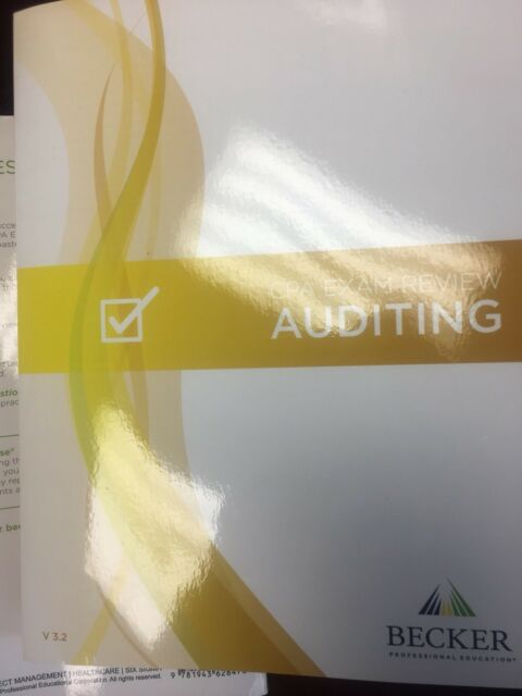 Becker CPA Exam Review Auditing V 32 For Exams Scheduled After Dec 31