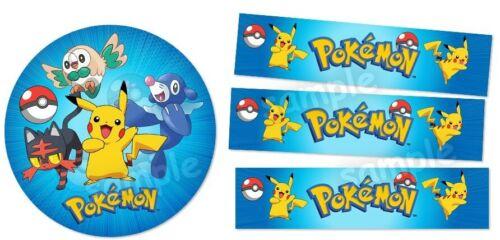 Pokemon Eßbar Tortenaufleger Party Deko Geburtstag Tortenband Bordüre Pikachu