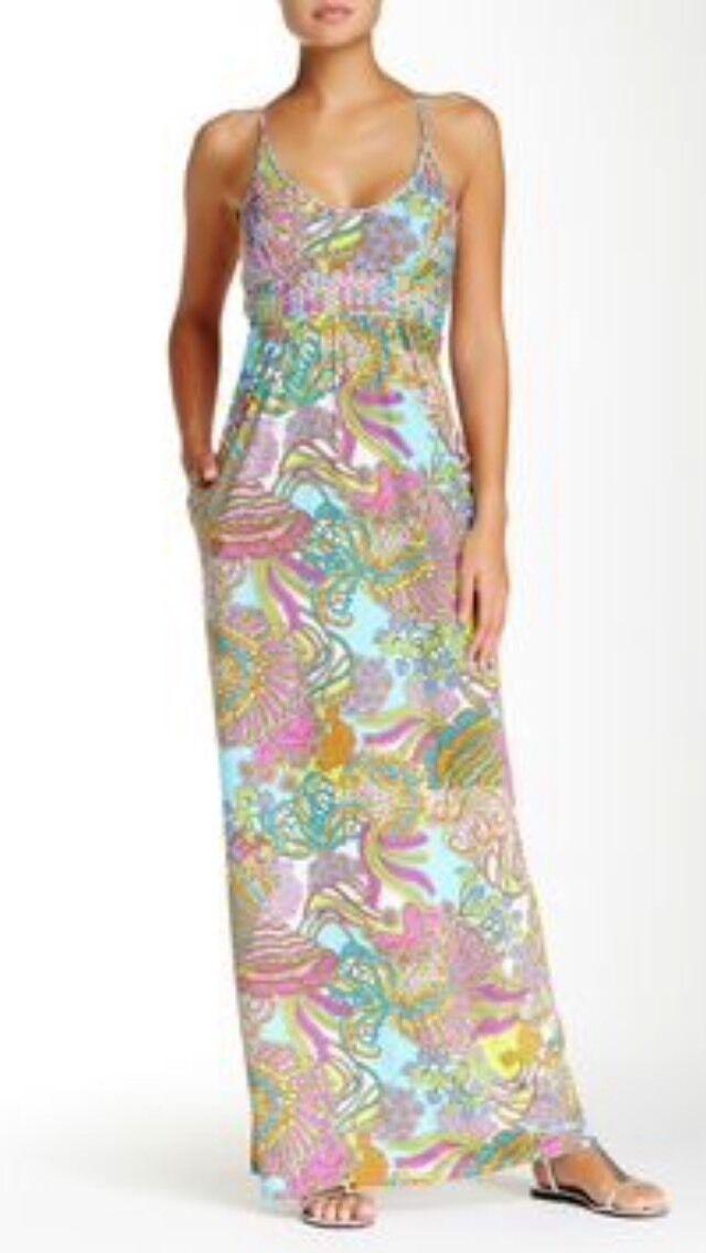 NWT   Sz M  Trina Turk Coral Reef Swim Cover Dress GORGEOUS