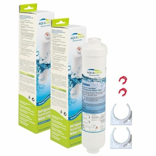 2 x aqualogis Esterna Frigorifero Filtro Per Bosch DD-7098 497818