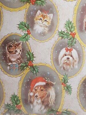 Donkey Xmas Trees Seasonal Theme Christmas Wrapping Gift Paper 5 Sheets /& 5 Tags