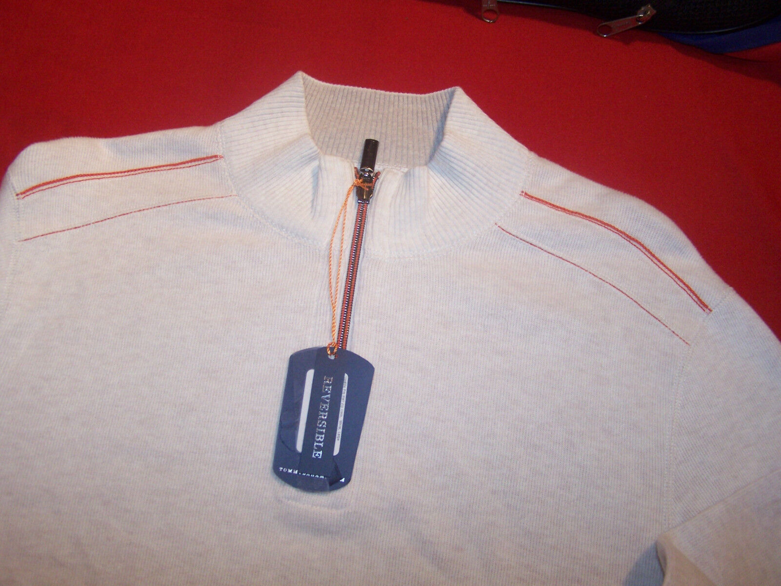 TOMMY BAHAMA - RELAX - MARLIN - REVERSIBLE SWEATER  - 1/2 ZIP COLLAR - TAGS
