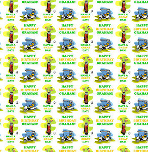 Personalised Gift Wrapping Paper BING Style Birthday Cartoon Any Name