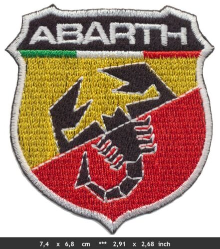 New ABARTH FIAT Sport Racing Logo Sew Ironed On Badge Embroidery Applique Patch