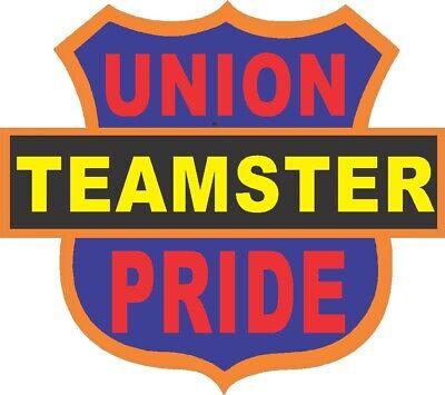 Teamster union pride triangle sticker CT-3