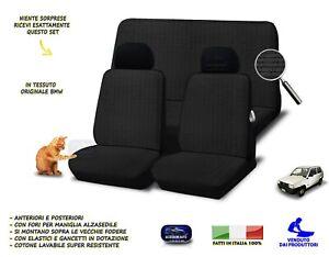 Coprisedili fodere Fiat Panda 4x4 copri sedile nero in cotone