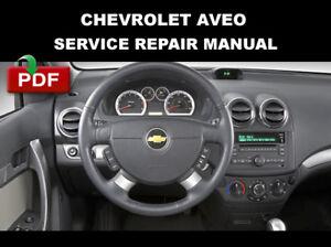 Chevrolet Aveo Aveo5 2009 2010 2011 Factory Service Repair