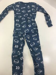 78a989160242 CARTER S TODDLER BOY 4-PIECE FOOTBALL PAJAMA SET BLUE WHITE RED 4T ...