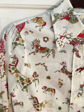Anthropologie Barney's New York Horses Carousel Button Up Blouse Euc 4