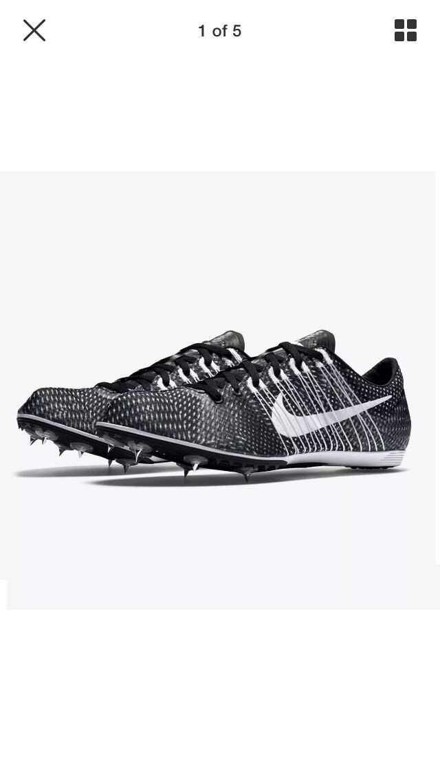 Nike Zoom VICTORY 2 Track Running Shoes BLACK 555365 001 MENs 12.5 Women 14 NIB best-selling model of the brand
