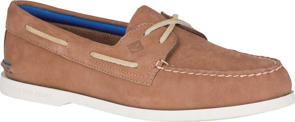 Sperry Top-Sider Authentic Original 2-Eye Plush Washable Boat Men's shoes in Tan