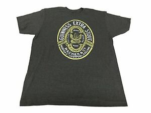 867f98f6a Guinness Extra Stout Beer Pelican Brand Crest Vintage Men s T Shirt ...