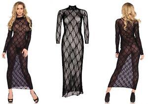 leg avenue lingerie black bow lace long sleeved sheer see
