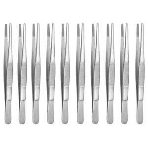 Ensemble de 10 pincettes de terrarium 13 cm de long - pincettes pour aliments pinces pour aliments droites A