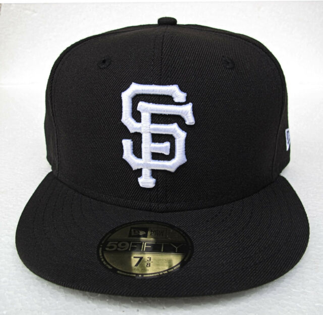 low priced 4247f 69777 ... store sf giants black with white logo fitted cap hat mlb new era size 7  1