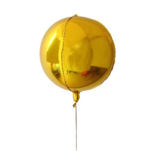 22inch 4D Round Sphere Shape Aluminum Foil Balloon Wedding Birthday Party Decor