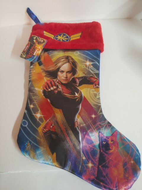 Marvel Super Hero Pattern Christmas Stocking Cotton/poly Lined |Marvel Stockings