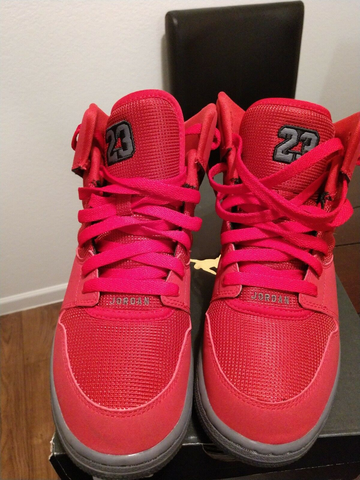 more photos 6d3b5 c5151 Jordan 1 Flight 4 Premium Red Drk Grey 828237-600 Basketball shoes-7Y