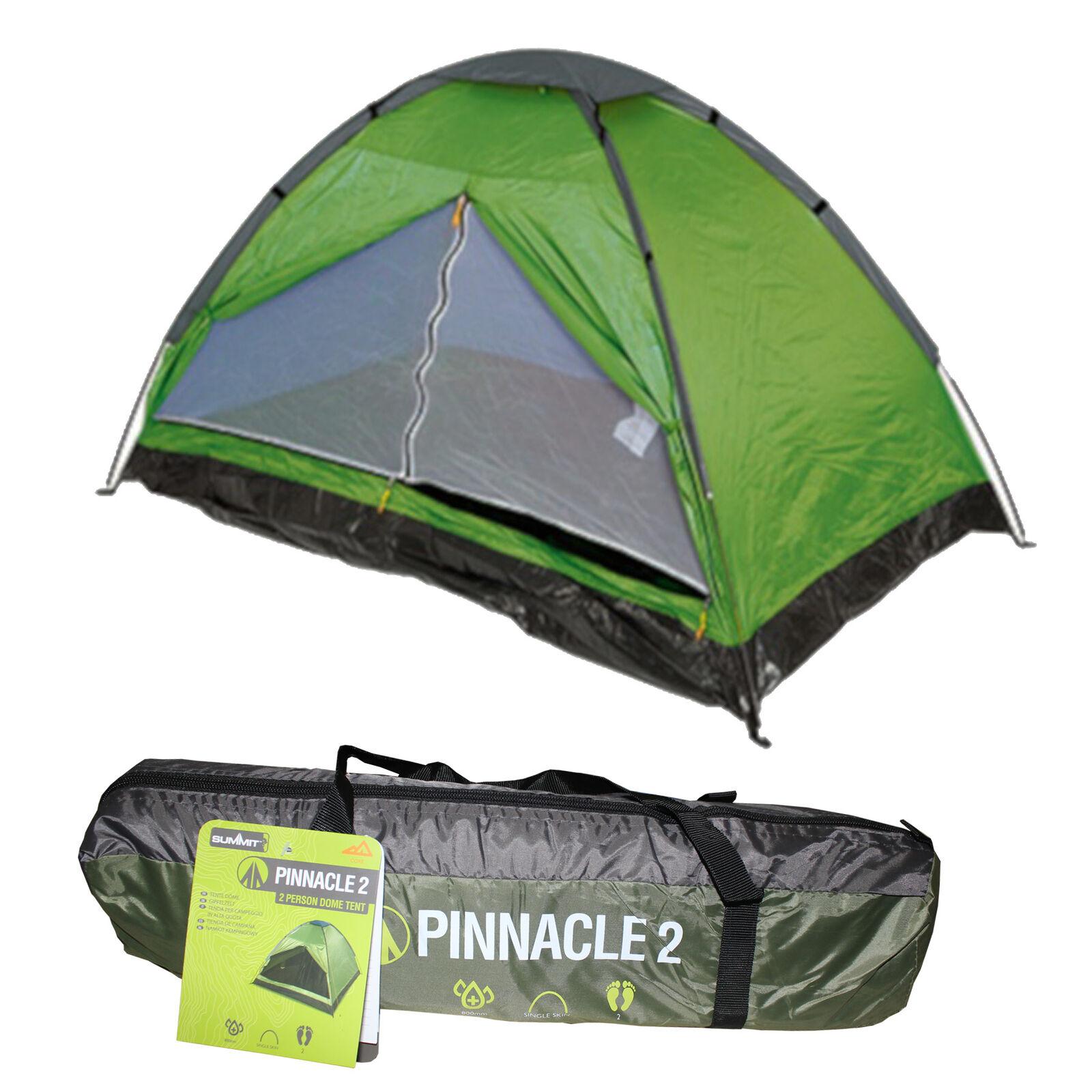 s l1600 - 2 Persona Domo Tienda Verde - Summit Acampada y Exterior Dormir Relajante Equipo