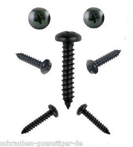 100 Vis /à T/ôle cruciforme t/ête bomb/ée plate avec rondelle galvanis/é noir 4,8 x 32 mm