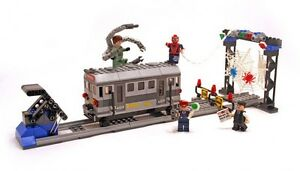 Image is loading LEGO-4855-Spider-Man-039-s-Train-Rescue-