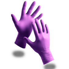 100 Extra Strong Purple Powder Free Nitrile Disposable Gloves XL Food Medical