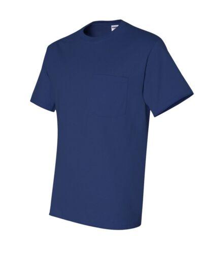 5XL 4XL Jerzees Men/'s S-XL 2X 3XL 50//50 Cotton Blend Pocket Tee T-Shirt 29MP