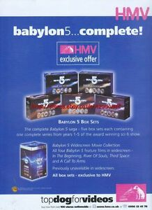 Babylon-5-034-Complete-HMV-034-1999-Magazine-Advert-4498