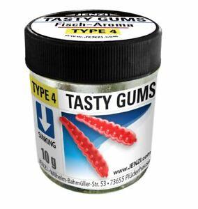 JENZI Tasty Gums Type 4 verschiedene Aromen Gummiköder schwimmend sinkend