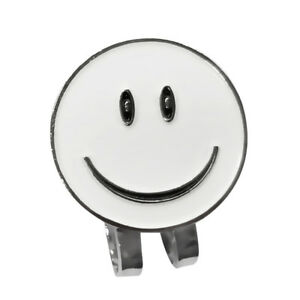 2-Pieces-White-Smile-Face-Golf-Ball-Marker-with-Magnetic-Hat-Clip-Golf-Gift