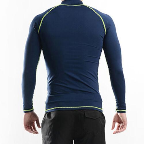 Belleap Rash Guard Mens Compression Long Sleeve Swimwear UV Protection 0502