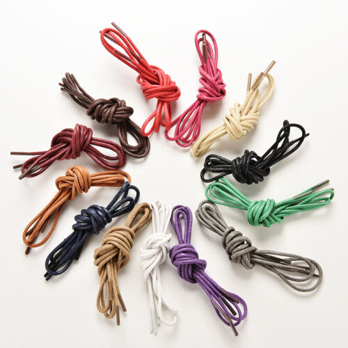 85cm Men Women Round Leisure Waxed ShoeLaces Brogue Leather Shoes Boot Laces  rs
