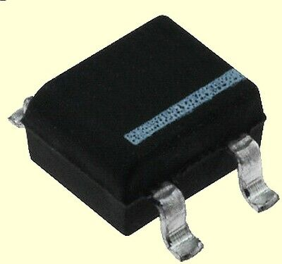4 pcs SMD Brückengleichrichter  MB10S  Glass passivated  0,5A  700V RMS  #BP