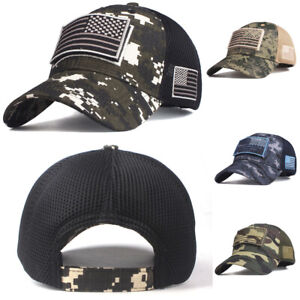America Flag Fashion Adjustable Cotton Baseball Caps Trucker Driver Hat Outdoor Cap Black