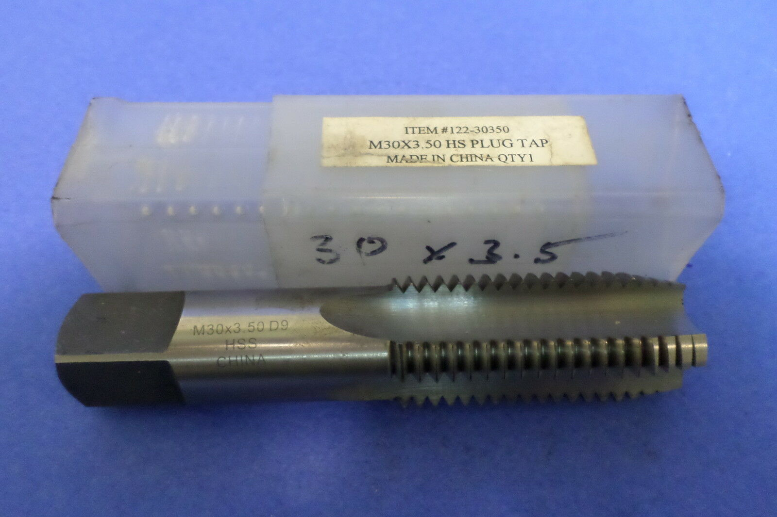 30x3.50 HS METRIC HAND TAP-PLUG