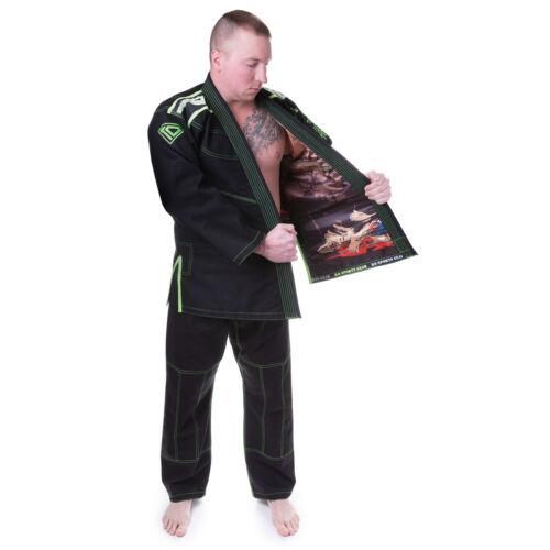 KO Sports Gear/'s Black Collector Gi BJJ Kimono and Pants Pearl Weave