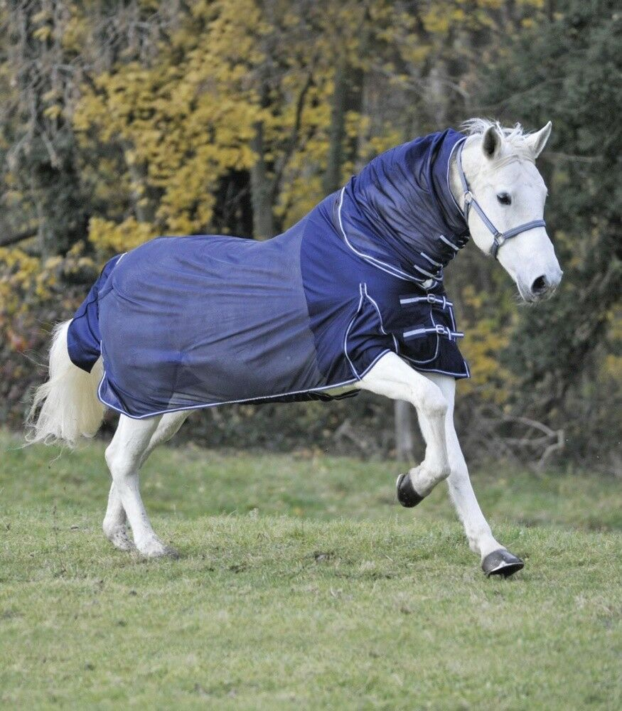 Moscas manta con elastik-cuello parte Waldhausen Horse fashion marine nuevo