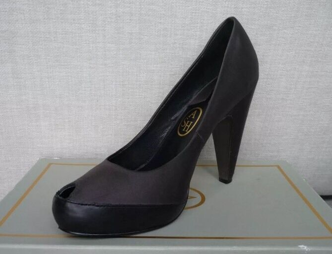 ASH shoes heels court shoes platform heels Selfridges in grey black UK 6 EU 39