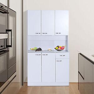 Free Standing Kitchen Units >> Free Standing Kitchen Furniture Tall Cabinet Unit Modern Cupboard Storage Larder | eBay