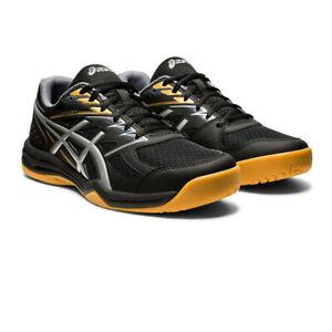 Asics Homme UPCOURT 4 Intérieur Cour Chaussures Noir Squash Basket Handball