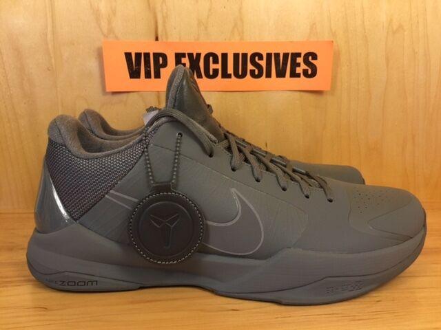 Nike Zoom Kobe V 5 FTB Fade To Black Tumbled Grey Black Mamba 869454-006