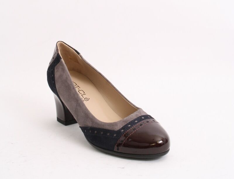 MOT-CLe 6009f Multi-Color Suede / Patent Pelle Pumps 36.5 /   6.5