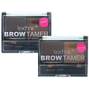 Technic-Brow-Tamer-Eye-Eyebrow-Shaping-Kit-Set-Palette-Wax-Powder-Brush-Spoolie
