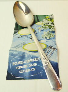 Holmes-Edwards-Serving-Spoon-Youth-Pattern-Inlaid-Silverplate-8-1-2-034