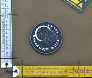 PVC-Rubber-Patch-034-Lone-Wolf-034-with-VELCRO-brand-hook