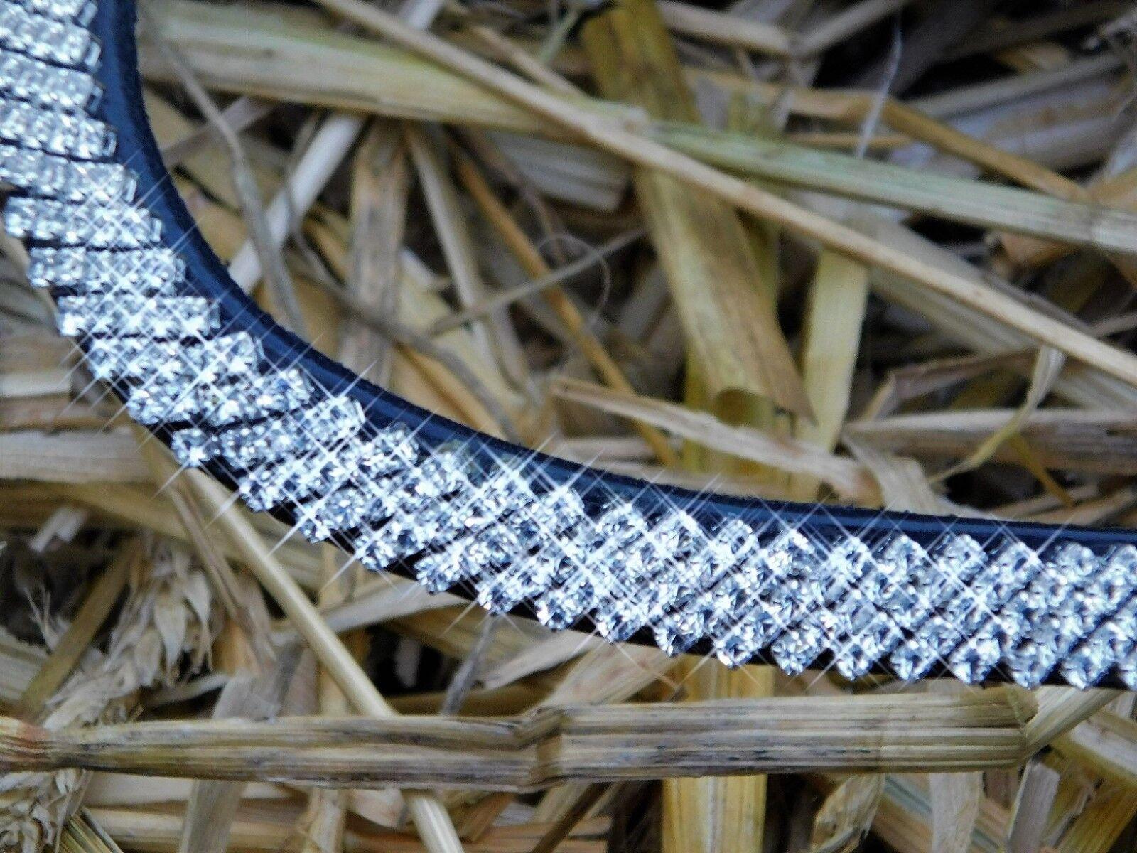 Trense Diamanti Super Strass Glitzer Schwarz Leder Weich Weich Weich Butterweich VB WB X Ful bcb44b