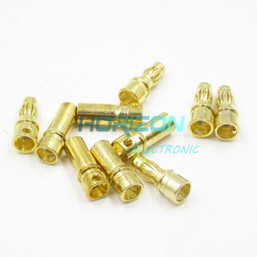 40PCS 20Pairs 3.5mm Gold Plated Male/&Female Bullet Banana Plug Connector for ESC