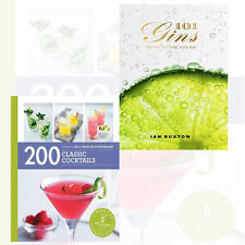 Tom Soden & Ian Buxton 2 Books Collection Set 101 Gins,200 Classic Cocktails New